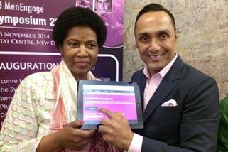 Intialainen näyttelijä Rahul Bose liittyi mukaan HeForShe-kampanjaan. (Kuva: UN Women/Oisika Chakrabarti)