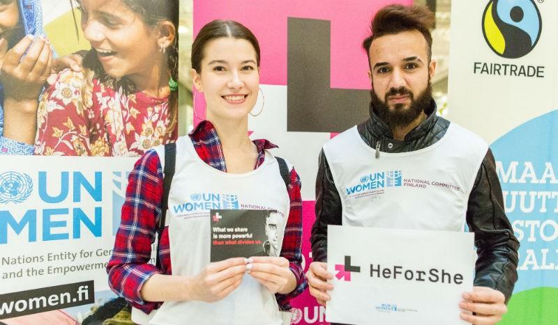 HeForShe korostaa yhteistyötä tasa-arvon puolesta.