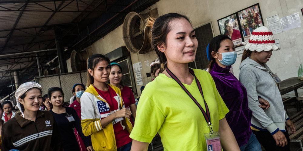 Tehtaan naiset nousivat seksuaalista häirintää vastaan Kambodzassa