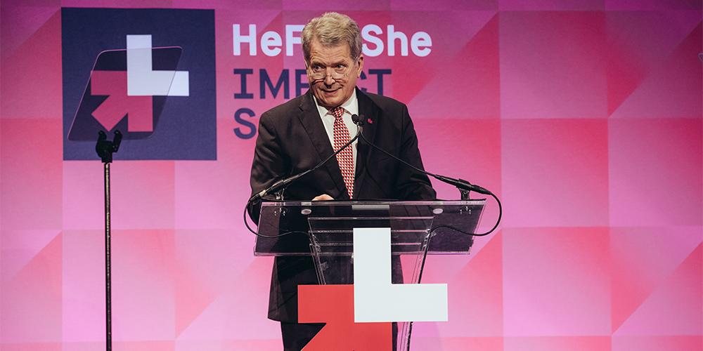 Presidentti Niinistön HeForShe-aloite maailmalle